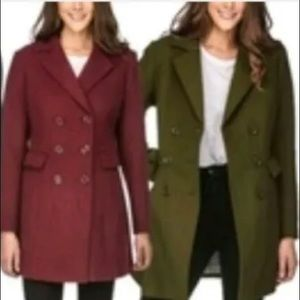 Haute Edition Women's Double Breasted Peacoat 1x